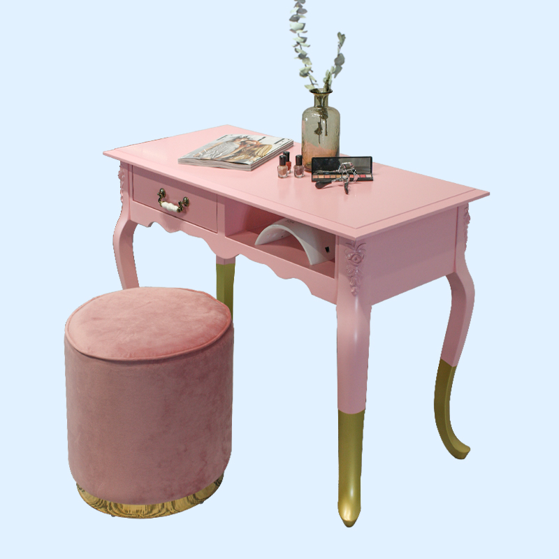 New Ins Wind European Single Double Manicure Table Economy French Gold Nail Table Manicure Table And Chair Set