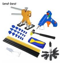 Kit de débosselage sans peinture pour voiture, outils de carrosserie pour réparer les bosses avec un pistolet à colle, kit de réparation pour les véhicules automobiles