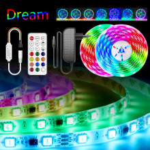 WS2811 Led strip Lights Dream RGB Led Strip Light Addressable 5M 10M 15M 20M 5050 Pixel Led Tape with adapter + controller