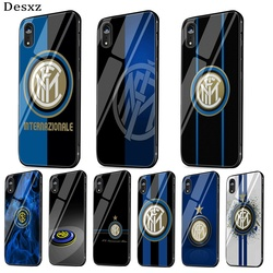 Inter Milan club Tempered Glass phone case For iPhone 12 mini 12 11 Pro Max SE 2020 6 6s 7 8 Plus X XS XR Max 5 5s SE Cover
