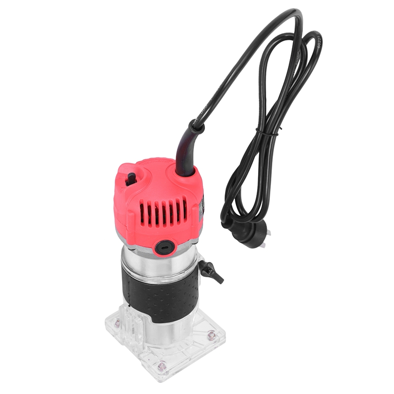 New 620W 110V Wood Trim Router 6.35mm Collection Diameter Electric Manual Trimmer Woodworking Laminated Palm Router Woodworking