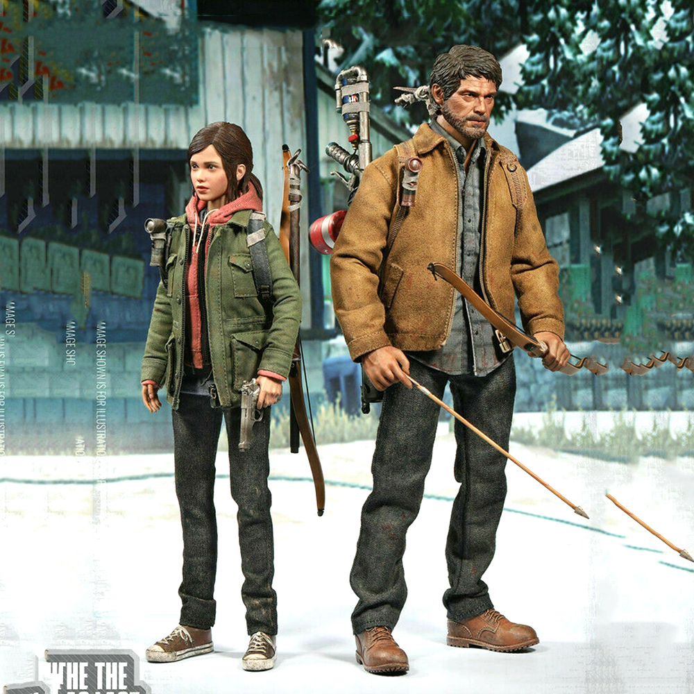 2 Figure/set  CCTOYS 1/6 The Last Of Us Last Survivor Joel & Ellie Double Custom Figure With Suit For Fans Collection Gift