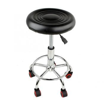 ɫ�さ調節可能なサロンローリングスイベルスツールタトゥーマッサージスパ椅子黒スイベルスツール