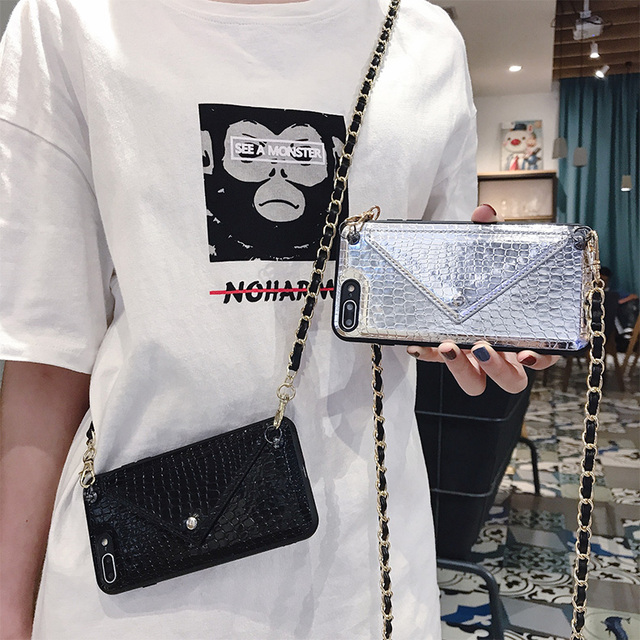 Hot Girls Crossbody Wallet With Long Strap Case Cover For iPhone 11 12 Pro XS MAX XR X 6S 8 7 6 Plus Card Slot Pouch Purse Cover