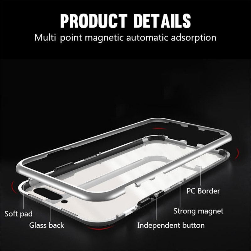 Metal Magnetic Adsorption Case For Samsung Galaxy A10 A20 A20E A30 A40 A50 A60 A70 M10 M20 S8 S9 S10 S10e J4 J6 J8 Plus A7 2018 in Fitted Cases from Cellphones Telecommunications