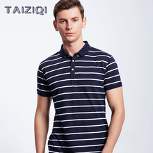 Polo men brand high quality Men\x27s polo shirt Striped Short Sleeve 50%Cotton Diamond Fiber Ten Colours 2888