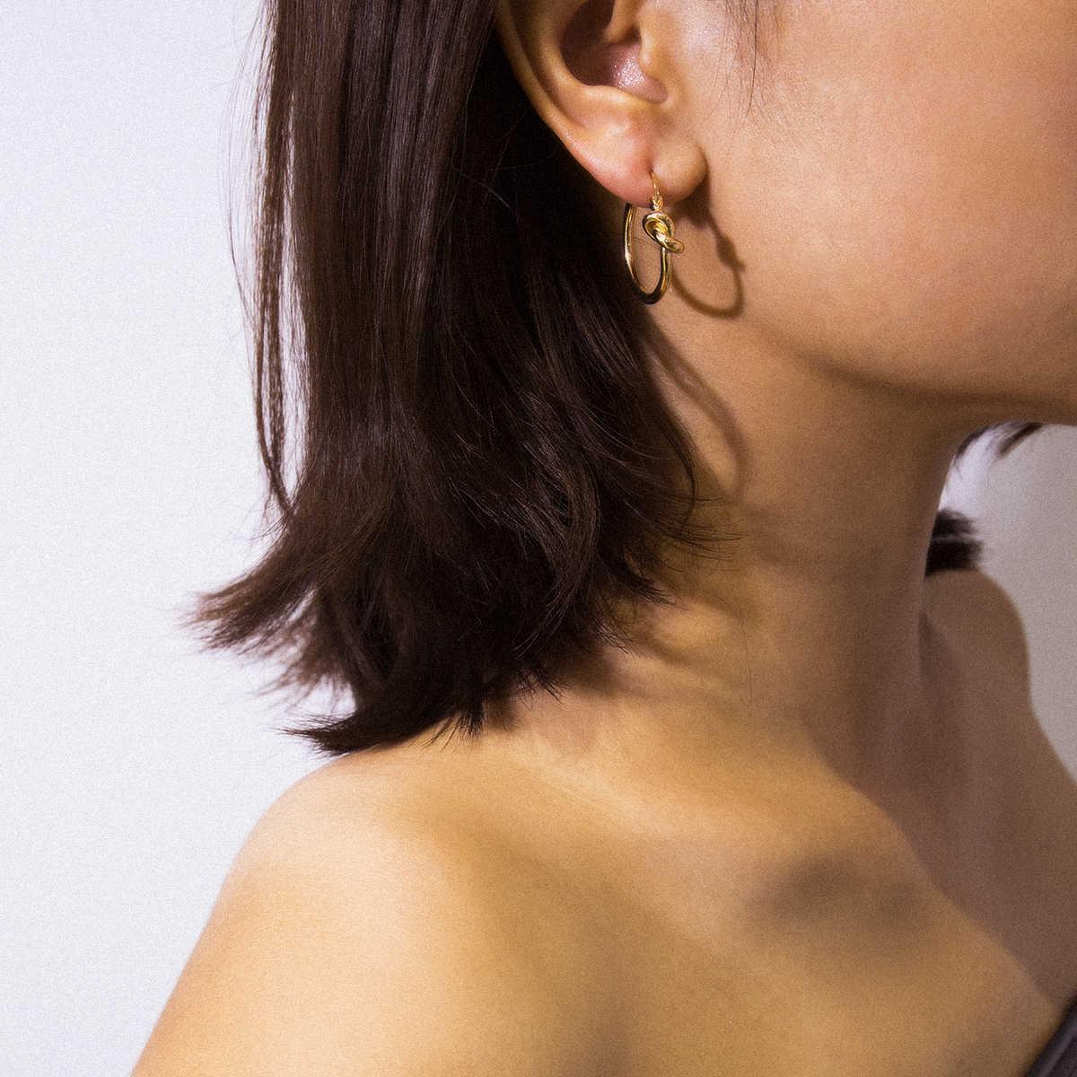 Ingemark Punk อินเดียงูรูปร่าง Hoop ต่างหูผู้หญิงที่ดีที่สุด Aros Steampunk รอบวงกลม Hoop ต่างหู Brinco แฟชั่นเครื่องประดับหู