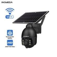 Inqmega ao ar livre câmera solar de segurança sem fio wifi destacável solar cam bateria cctv vigilância vídeo monitor inteligente
