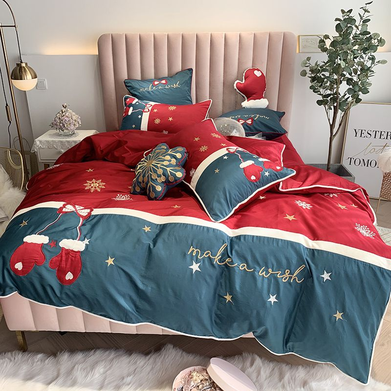 Christmas 2020 Bedding 2020 Christmas Bedding sets Queen King size Classical Embroidery