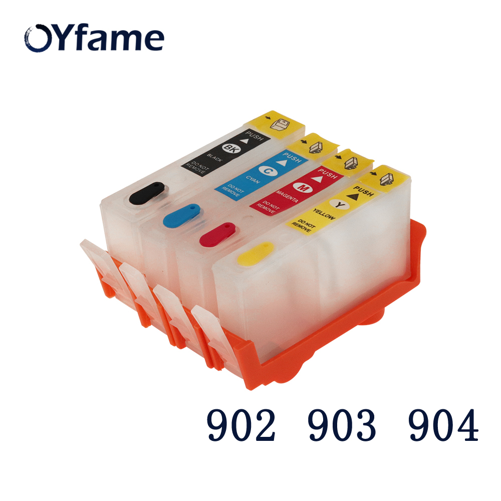 OYfame For <font><b>HP</b></font> <font><b>903</b></font> ink Cartridge For <font><b>HP</b></font> 902 <font><b>903</b></font> 904 <font><b>Refillable</b></font> Ink Cartridge With ARC Chip For <font><b>HP</b></font> OfficeJet 6950 6960 6951 image