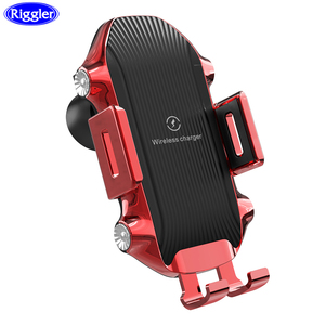 Image 1 - Dokunmatik sensör kablosuz araba şarjı Qi hızlı şarj araç tutucu için Huawei P30Pro Mate20PRo iphone XR XS