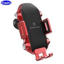 Sensor de toque sem fio carregador carro qi carga rápida montagem do carro para huawei p30pro mate20pro iphone xr xs