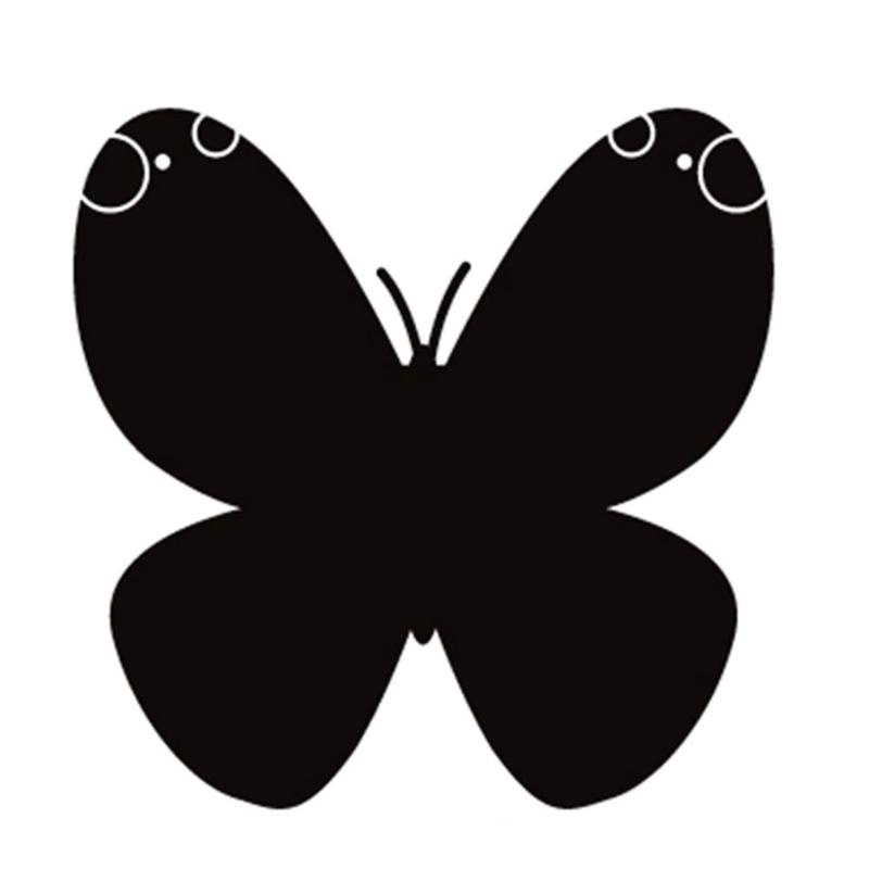 Butterfly Removable Glass Decal Blackboard Wall Stickers Living Room Decor