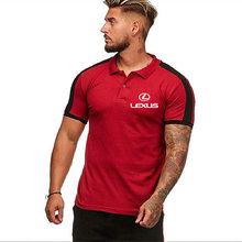 Men's Polo Shirt for Lexus Car Logo Summer casual male solid colour Cotton Fashion T-shirt Mens Short Sleeve Tops Clothes A(China)