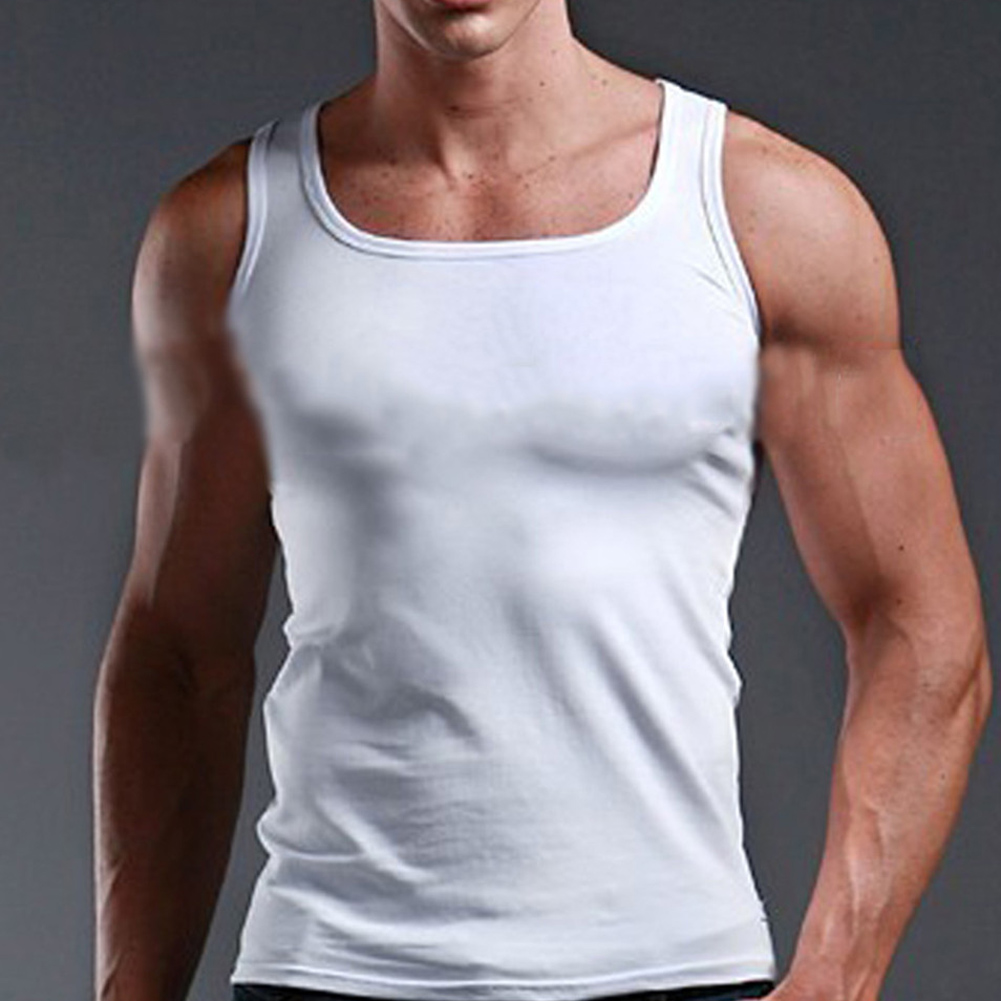 Men's Gyms Casual Tank Tops Bodybuilding Fitness Muscle Sleeveless Singlet Top Vest Tank man's clothes