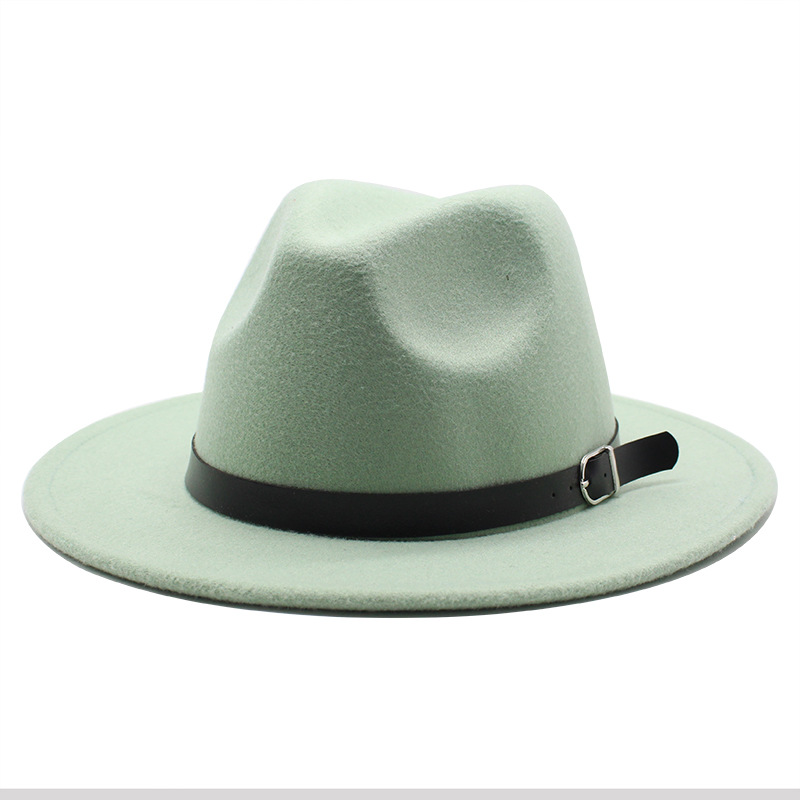 Classic British Fedora Hat Men Women Imitation Woolen Winter Felt Hats Fashion Jazz Hat Chapeau Wholesale 9
