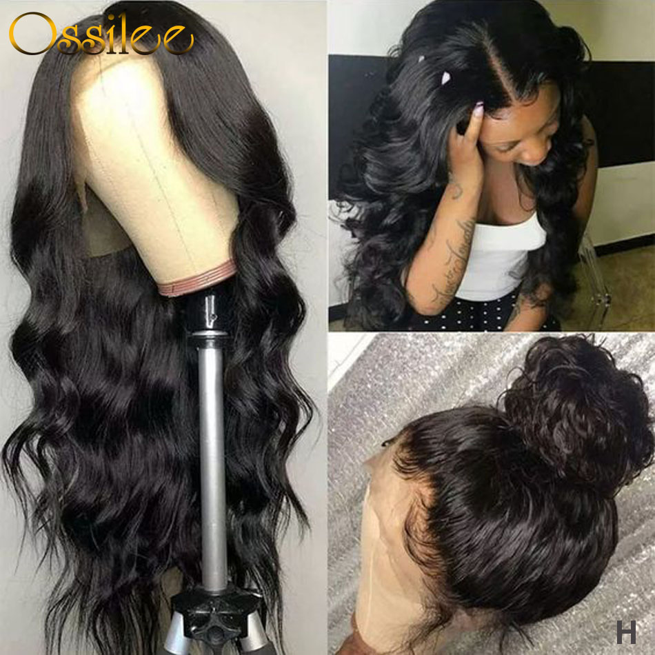 Ossilee Lace Front Wig Body Wave 360 Lace Frontal Wig Brazilian Remy Lace Front Human Hair Wigs 150% 130% Density High Ratio