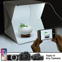Portable Mini Photo Studio LED Photography Light Box  background Soft Box Tent Kit for Phone DSLR Camera Photo Folding studio