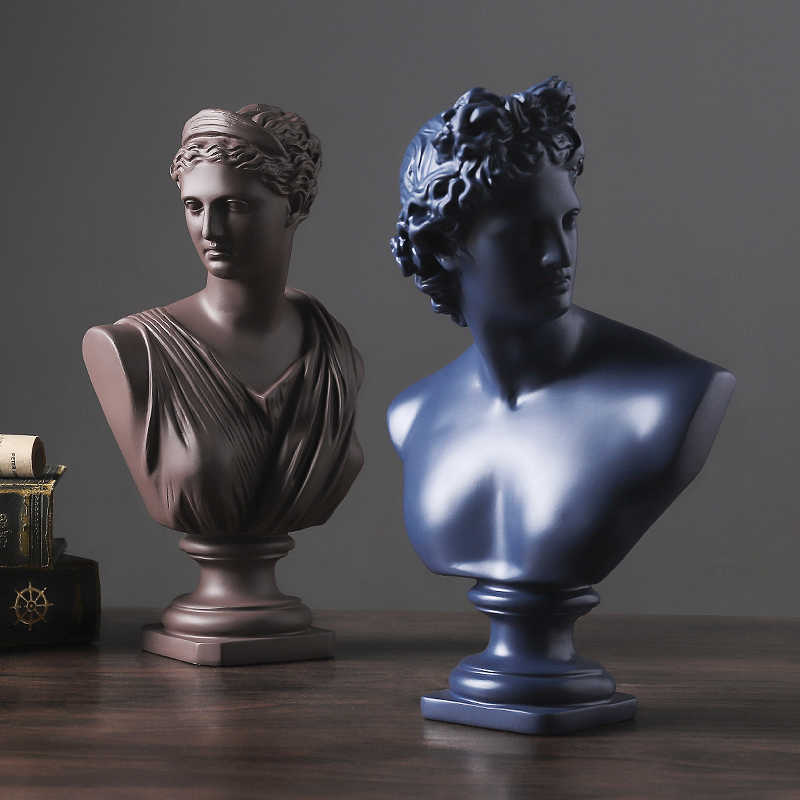 Eropa Resin David Venus Kepala Patung Rumah Ruang Tamu Dewi Patung Patung Dekorasi Kantor Desktop Perabotan Kerajinan