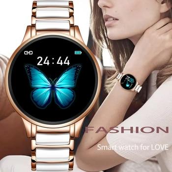 LIGE Luxury Smart Watch Women Waterproof Sports Fitness Tracker For Android ios Reloj inteligente Ceramic Strap smart watch Men 1