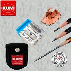 1 шт. Германия Kum The Masterpiece Сегментированный Магний точилка для карандашей Бесплатная 2 сменные лезвия школьные принадлежности