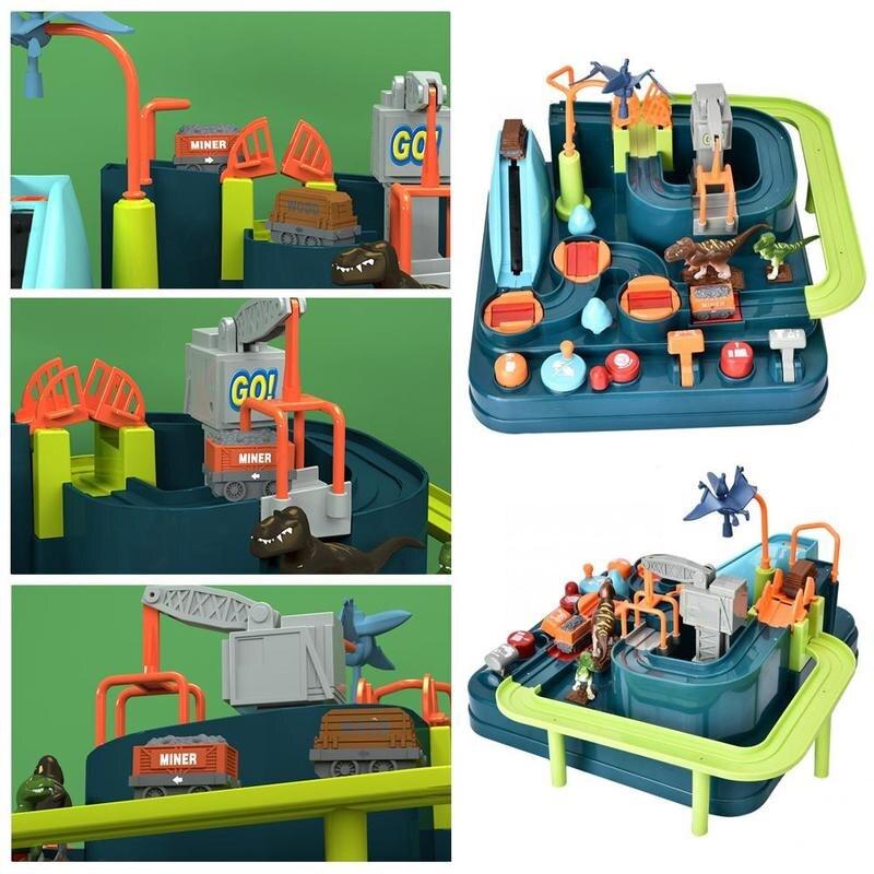 Montessori dinosaure Puzzle piste jouet voiture grande aventure Train piste voiture ensemble aventure Intelligence enfants Shaoguan Puzzle jouet