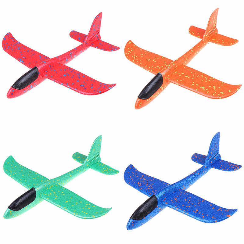 1 PC Epp Busa Tangan Melemparkan Pesawat Outdoor Peluncuran Glider Pesawat Anak-anak Hadiah Mainan 37 Cm Mainan Yang Menarik