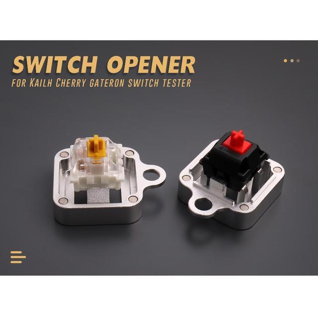 スイッチテスター磁気シャフトオープナーkailh桜gateronスイッチ機械式キーボードのためにカスタマイズcnc金属スイッチオープナー