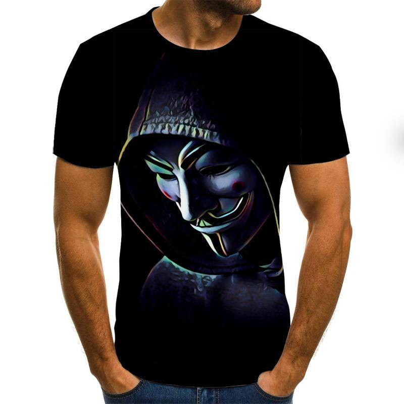 Horror Movie It Penny Wise Clown Joker 3d Print Men /Women Hip Hop Streetwear Tee T Shirt 90s Boys Cool Clothes Man Tops