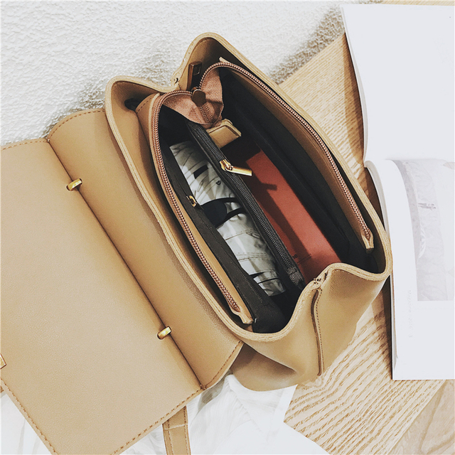 Burminsa Winter Suede Women Messenger Bags Small Soft PU Leather Handbags Retro High Quality Young Ladies Shoulder Bags 2019 4