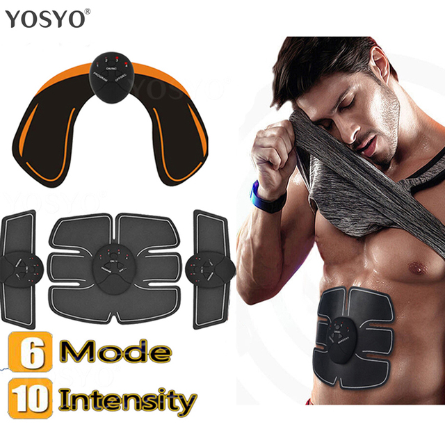 Smart EMS Muscle Trainer Electric Muscle Stimulator Wireless Buttocks Hip Abdominal ABS Stimulator Fitness Slimming Gel Massager 3