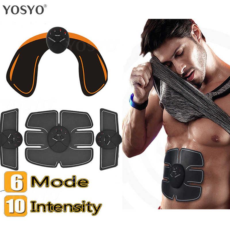 Smart EMS Muscle Trainer Elektrische Muscle Stimulator Wireless Gesäß Hüfte Bauch ABS Stimulator Fitness Abnehmen Gel Massager