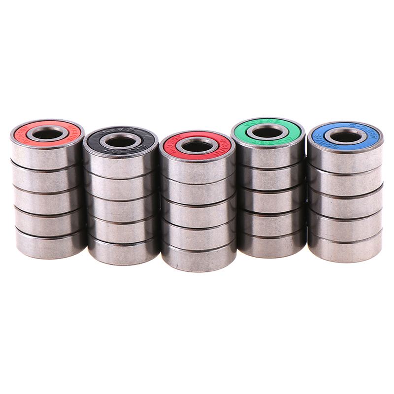 5pcs <font><b>608</b></font> <font><b>2RS</b></font> Inline Roller Skate Wheel Bearing Anti-rust Skateboard Wheel Bearing Red Sealed 8x22x7mm Shaft <font><b>ABEC</b></font> <font><b>9</b></font> Dropshipping image