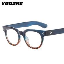 Transparent Glasses Frames Spectacle Optical YOOSKE Myopia Retro Women Round Student