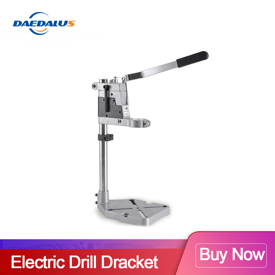 Bench Drill Press Stand Aluminum Base Bench Max 43mm Clamp Power Tools Double-head Drill For Electric Drill Woodworking Tools