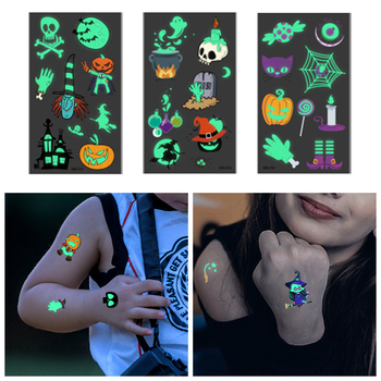 Tattoo Stickers Luminous Child Kid Temporary Fake Tattoos Glow Paste on Face Arm Leg for Children Body Art Decoration Sticker 1