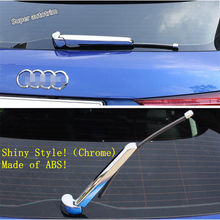 Lapetus Chrome Rear Window Windscreen Wiper Protection Kit Cover Trim Fit For Audi Q3 2019 2020 ABS Accessories Exterior