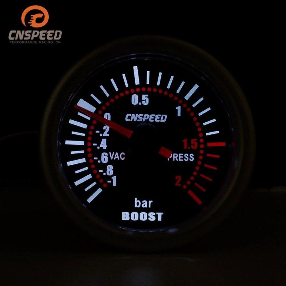 turbo, impulsionador, vácuo-1-2 barras, ponteiro de pressão medidor de fumaça lentes led