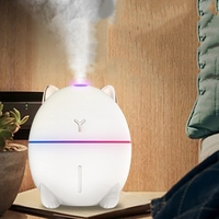 New 200ML Ultrasonic Air Humidifier Aroma Essential Oil Diffuser for Home Car USB Fogger Mist Maker with LED Night Lamp