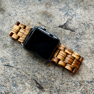 Image 2 - Retro Bamboo Wooden Bracelet Belt For Apple Watch band Wood 38mm 40mm 42mm 44mm Apple iWatch Strap Series 1 2 3 4 5 Watchbands