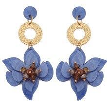 Aretes 2019 Oorbellen Kolczyki Ohrringe Pendientes Earing Adorn Article Source Long Acrylic Flower Pendant Bohemian Earrings