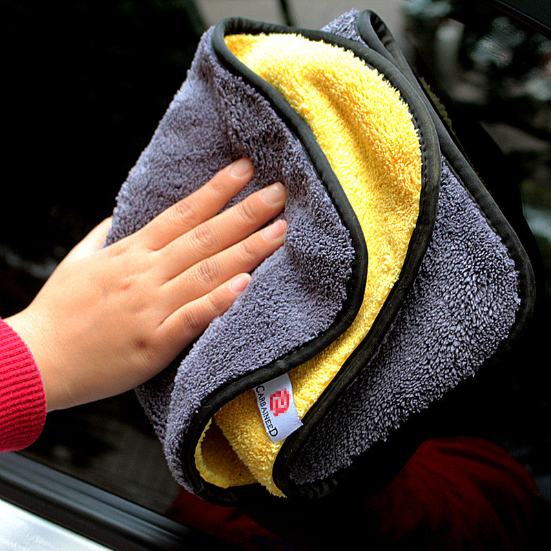 Microfiber Auto Wash Towel Car Cleaning Drying Cloth Hemming Car Care Cloth Detailing Car Wash Towel 30×30/40/60CM