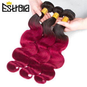 Бразильские Омбре волнистые волосы пряди 100% человеческие волосы T1B 30/бордовый/39J/фиолетовый цвет человеческие волосы плетение Remy волосы для...