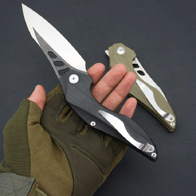 Tactical Folding Knife G10 Handle D2 Blade Ball Bearing Camping Hunting Folding Knives Survival EDC Tool New Creative Knife