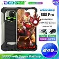 Смартфон DOOGEE S88 Pro защищенный, IP68/IP69K, 10000 мАч, 6,3 дюйма, FHD +, Helio P70, 8 ядер, 6 + 128 ГБ, Android 10