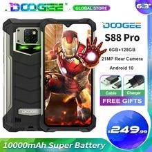 Doogee s88 pro ip68/ip69k telefone robusto 10000mah 6.3 fffhd + smartphone helio p70 octa núcleo 6gb + 128gb android 10 celular