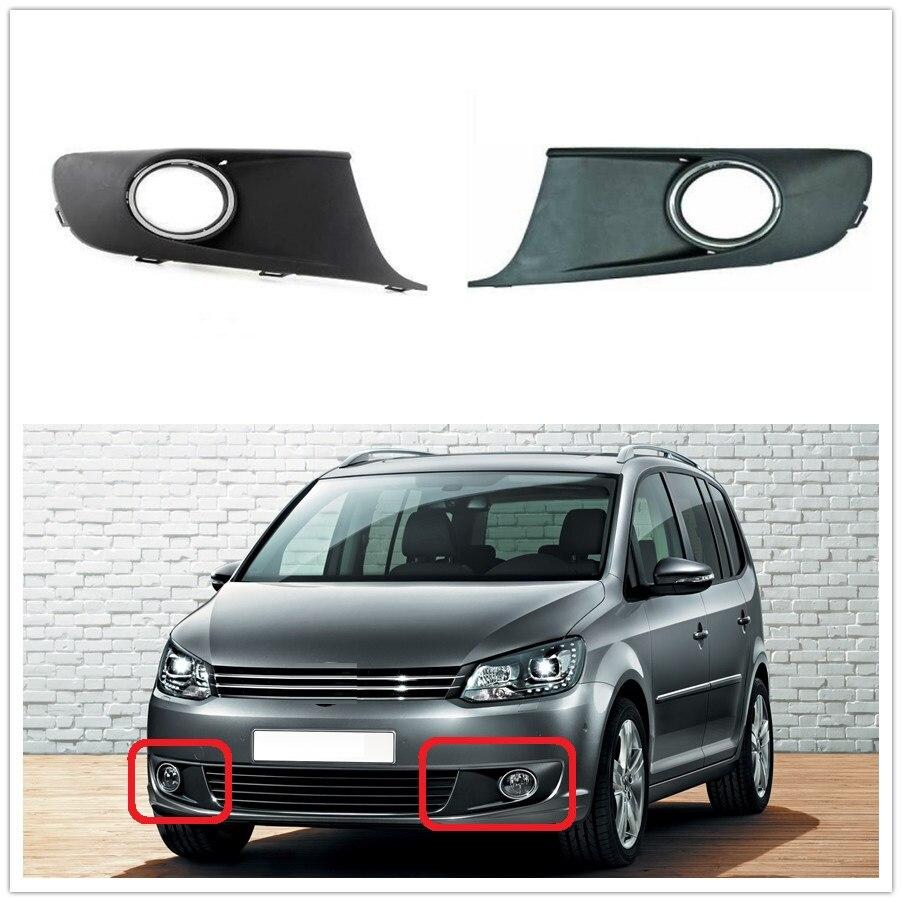 VW Touran MK2 Facelift 용 자동차 안개 조명 커버 2011 2012 2013 2014 2015 자동차 스타일링 전면 안개 램프 라이트 그릴 커버