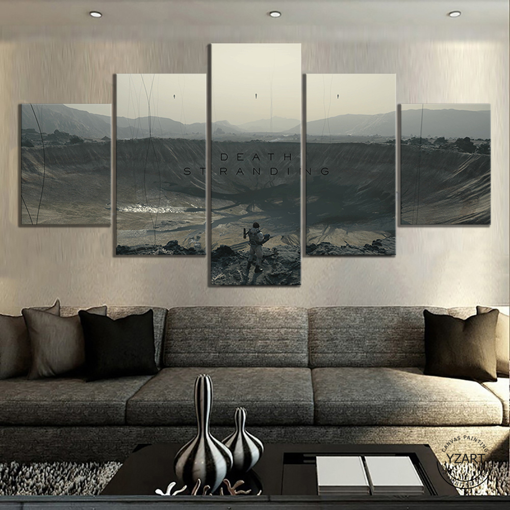 Death Stranding  HD Fantasy Art Wall Pictures Shooting Games Artwork Canvas Paintings for Home Decor Wall Art 4