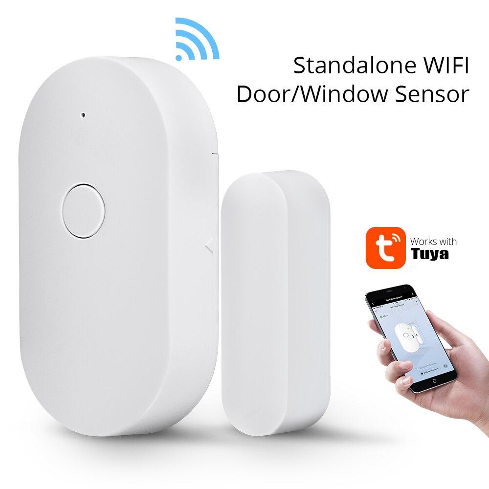 Датчик окон и дверей с Wi-Fi, Автономная Беспроводная сигнализация Tuya для умного дома, уведомления об открытии и закрытии, без концентратора