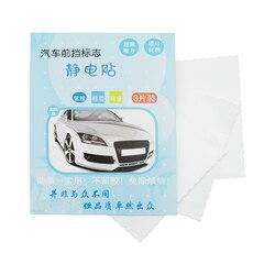 3 peças automóvel pára-brisa eletrostática adesivos 9.5cm * 9.5cm carro à prova dwaterproof água adesivo estático acessórios interiores automóveis